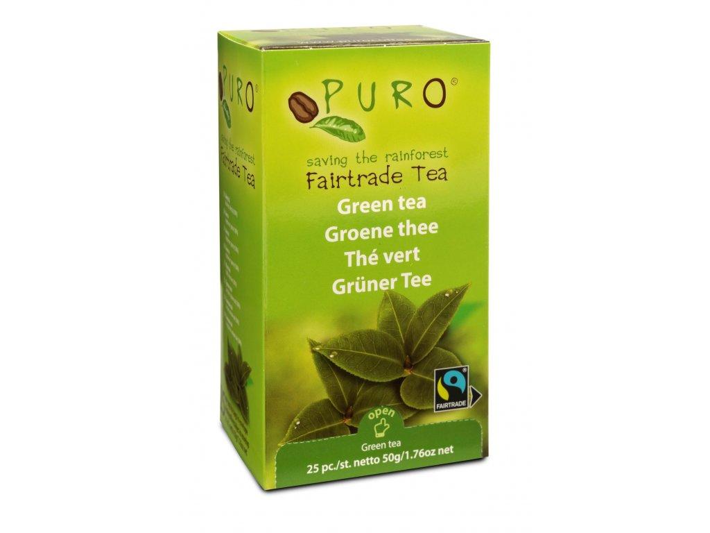 Fairtrade čaj porcovaný Puro zelený 25x2g