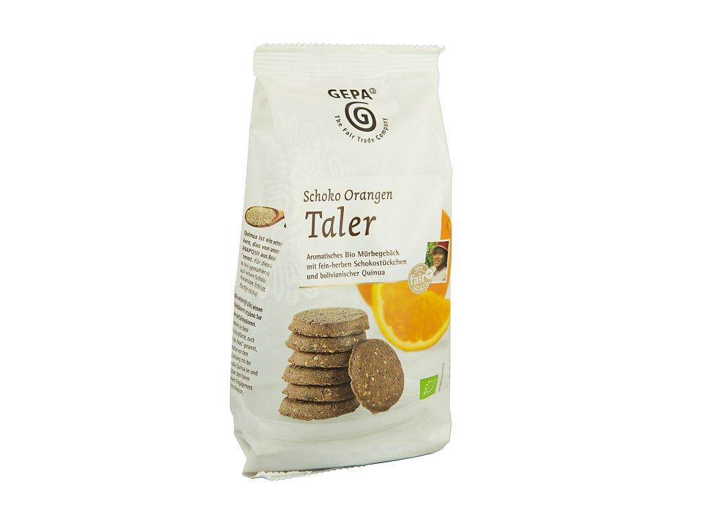 BIO sušenky čokoládové s pomerančem