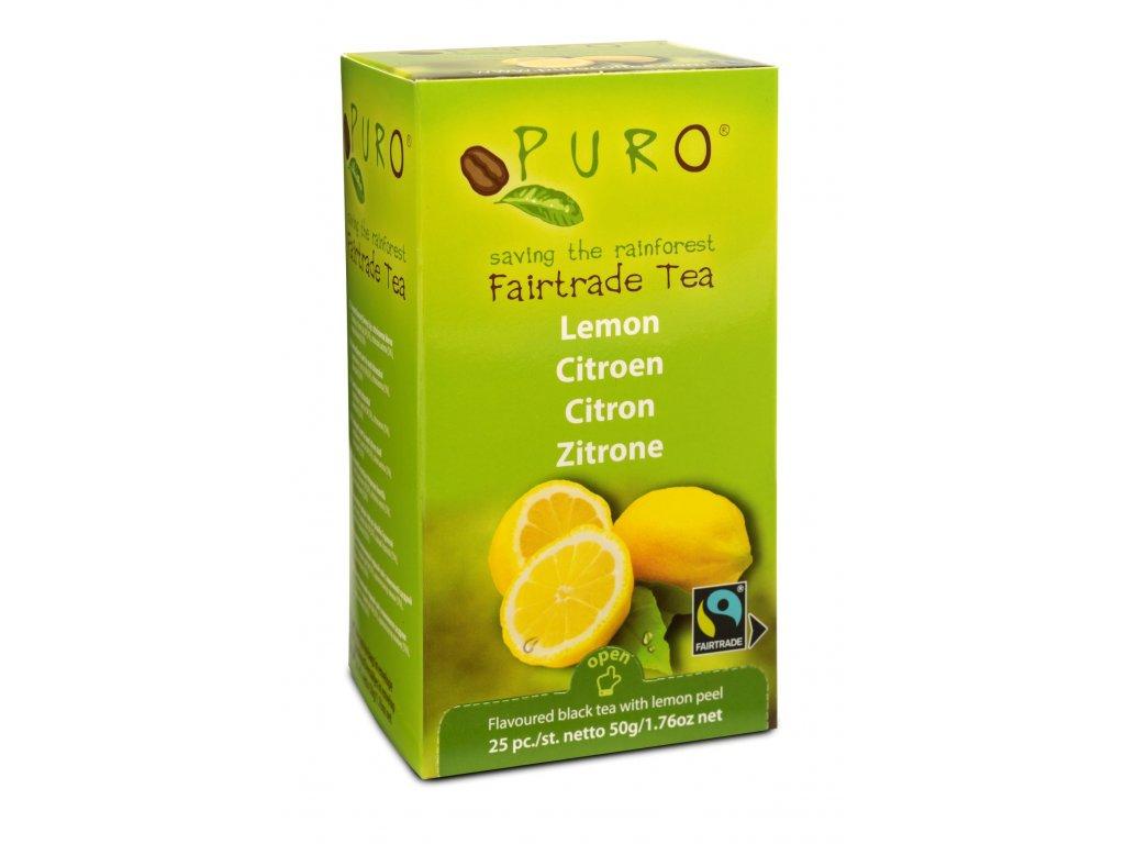 Fairtrade čaj porcovaný Puro s citrónem 25x2g