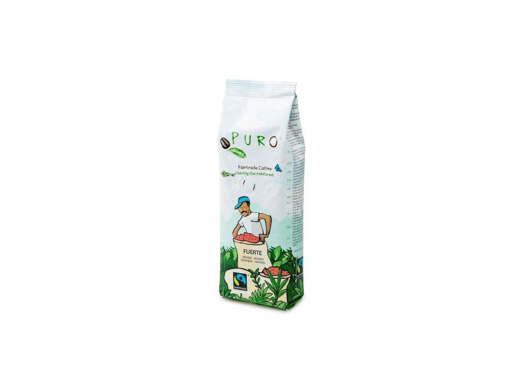 Zrnková káva Puro Fairtrade FUERTE 250g