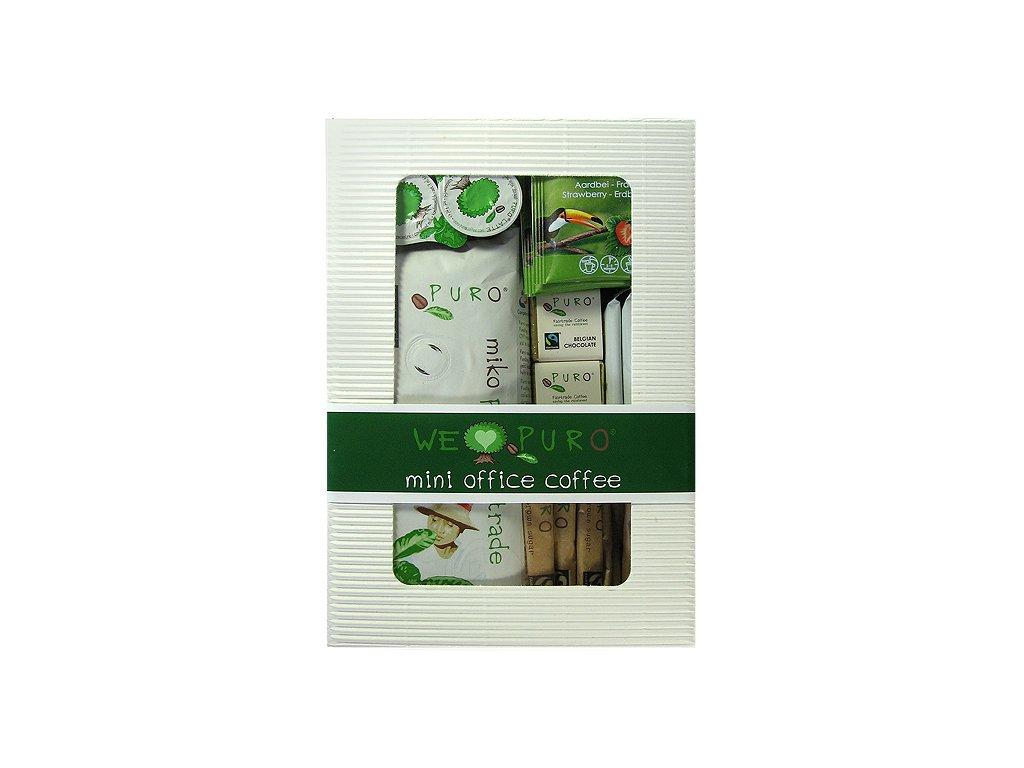 FAIRTRADE dárkový balíček Zrnková káva Puro mini office pack