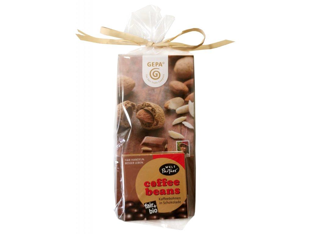 Fairtrade dárkový balíček Fair poděkování v hnědé