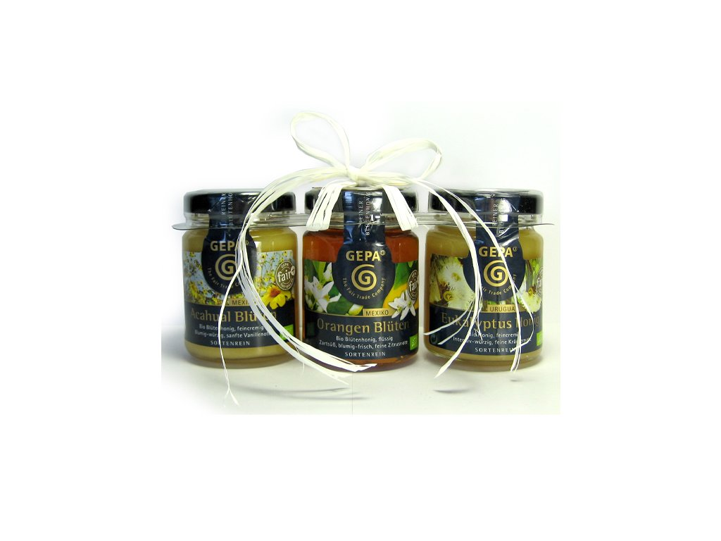 FAIRTRADE dárek  BIO medové trio