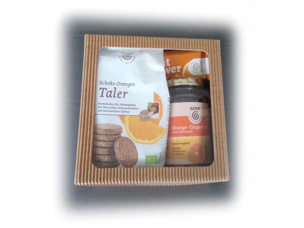 FAIRTRADE dárkový balíček Pomerančové chutě
