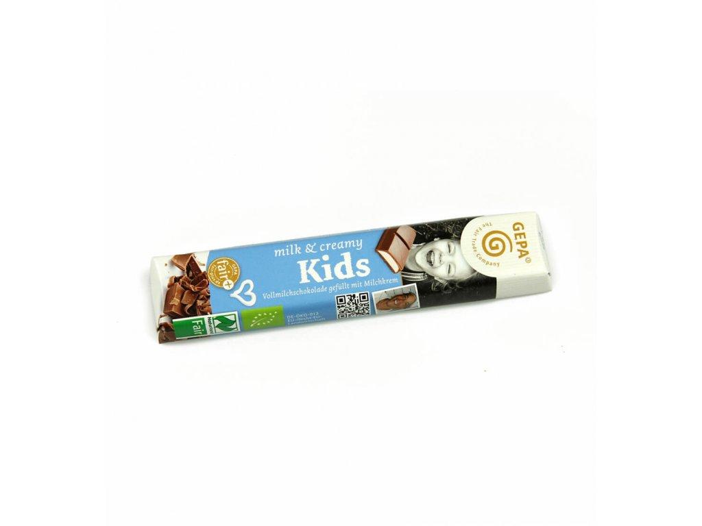 BIO mléčná čokoláda pro děti, 37,5 g kids