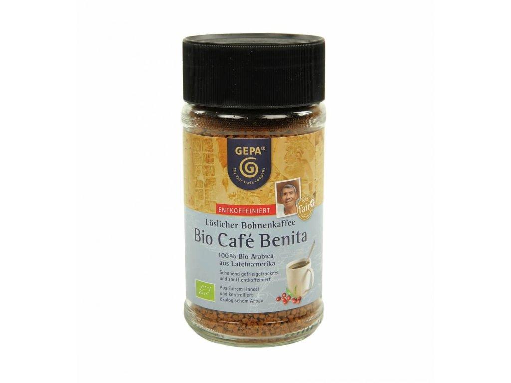 Instantní káva Fairtrade BIO Benita Premium BEZ KOFEINU 100 g