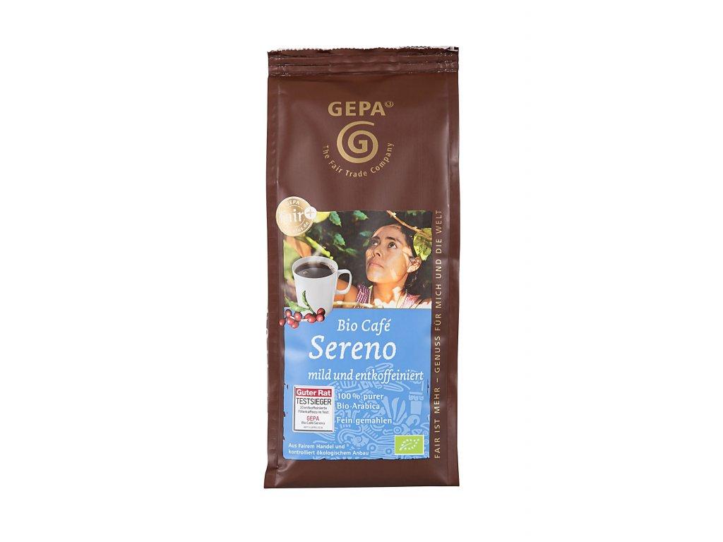 Mletá káva Fairtrade - BIO Sereno 250 g, bez kofeinu