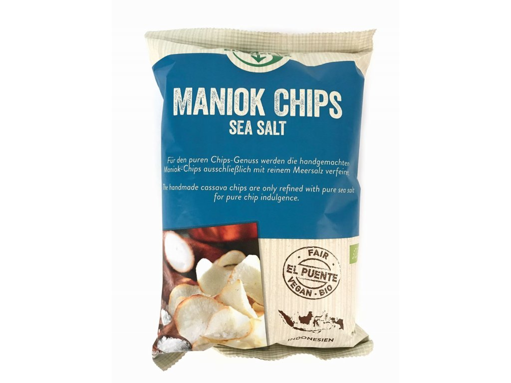 BIO Maniok chipsy - příchuť mořská sůl, 30g
