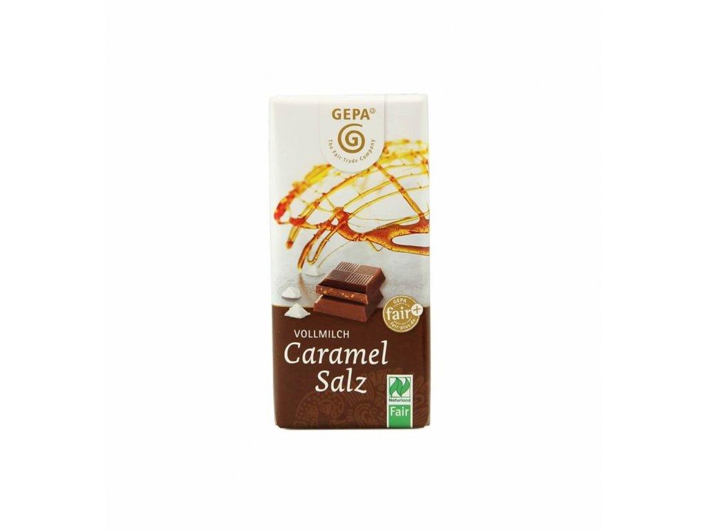 BIO čokoláda mléčná karamel, sůl, 40 g