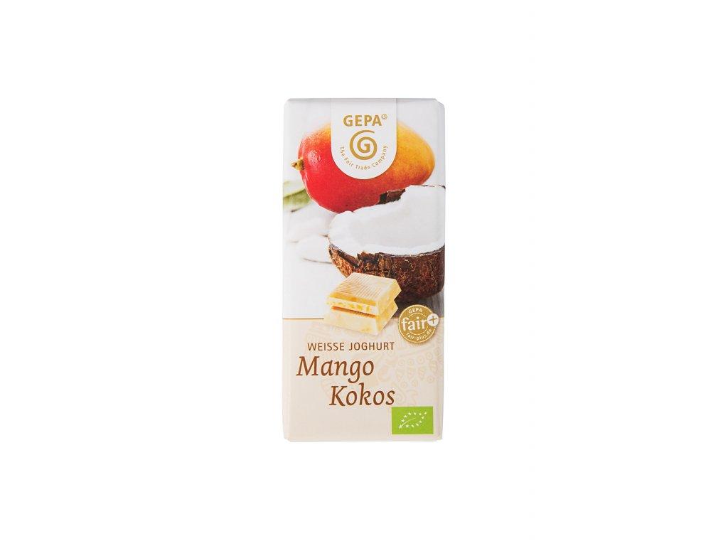 BIO čokoláda bílá mango a kokos, 40 g