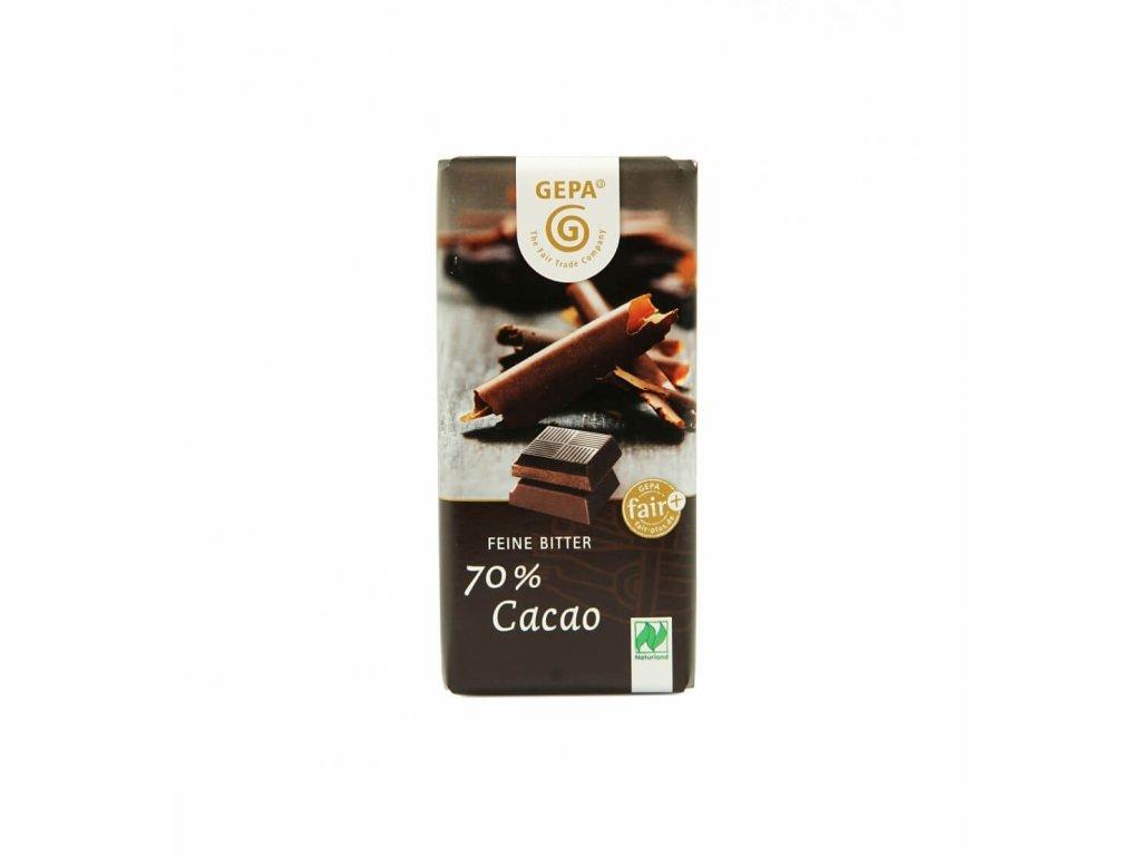 BIO čokoláda hořká 70% kakaa, 40 g