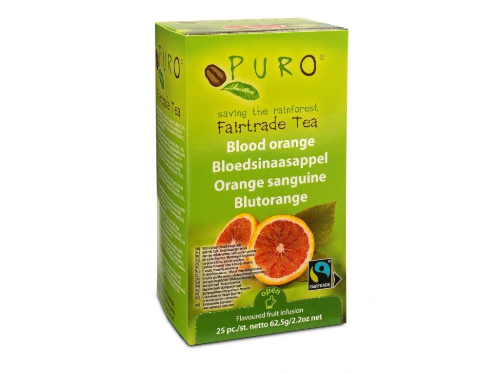Fairtrade čaj porcovaný Puro pomerančový 25x2g