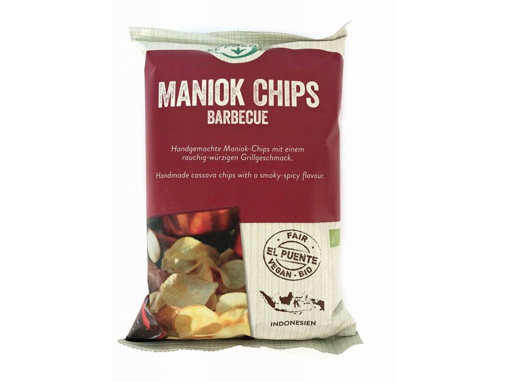 Bio Exotické chipsy z manioku s příchutí Barbecue 30g