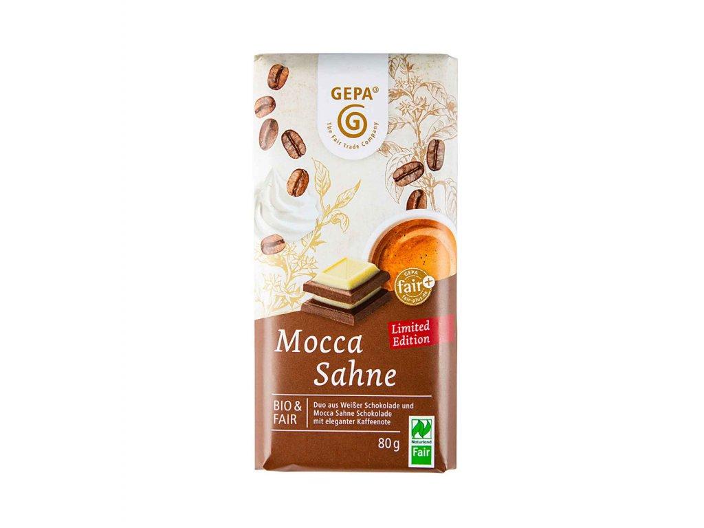 BIO bílá čokoláda a krémová čokoláda Mocca, 80g
