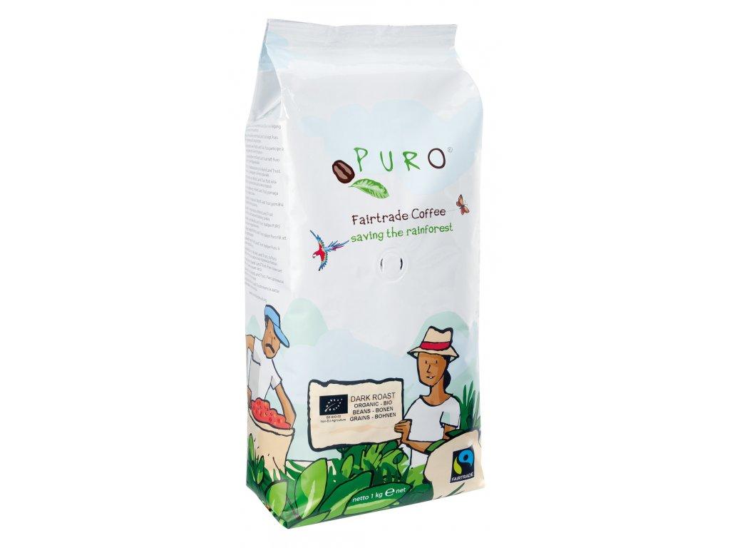 Zrnková káva Puro Fairtrade BIO DARK ROAST 1 Kg