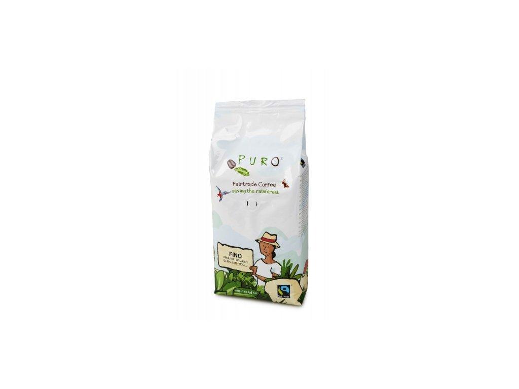 Hrubě mletá káva Puro Fairtrade FINO 1 kg 100% Arabicade FINO 1 kg