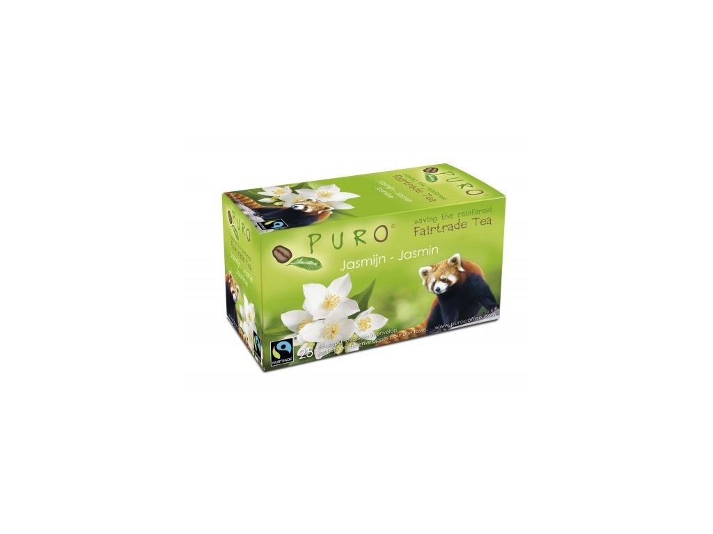 Fairtrade čaj porcovaný Puro zelený jasmínový 25x2g