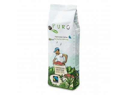 Zrnková káva bez kofeinu Puro Fairtrade 250g