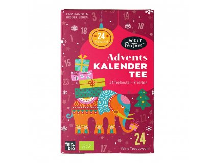 BIO advetní kalendář s čaji 24x1,8g - vánoční edice