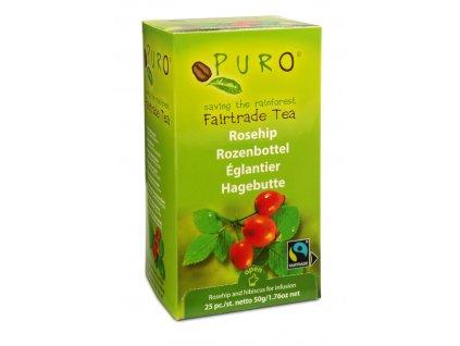 Fairtrade čaj porcovaný Puro šípek ibišek 25x2g