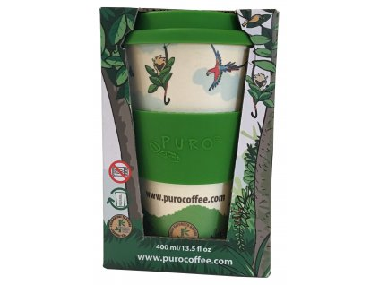 Puro bambusový hrnek na kávu 400 ml krabičkaOE PURO REUSABLE 12OZ packaging