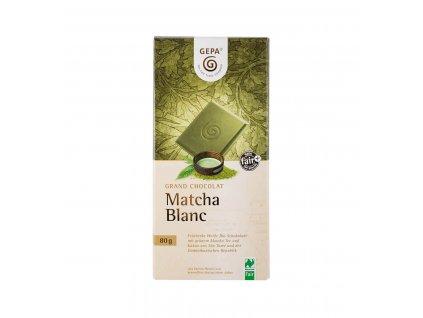 BIO bílá čokoláda Matcha, 80 g