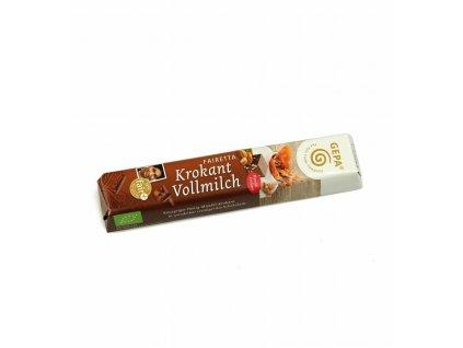 BIO mléčná čokoláda mandle a med, 45 g