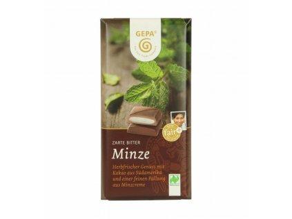 BIO hořká čokoláda s mátovým krémem, 100 g