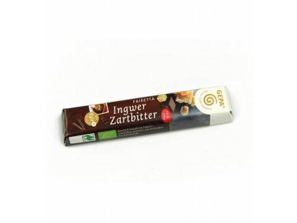 BIO hořká čokoláda se zázvorem, 45 g
