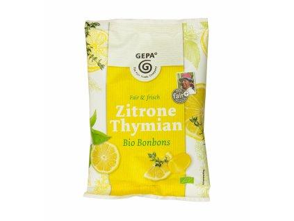 BIO bonbóny citrón s tymiánem, 100 g