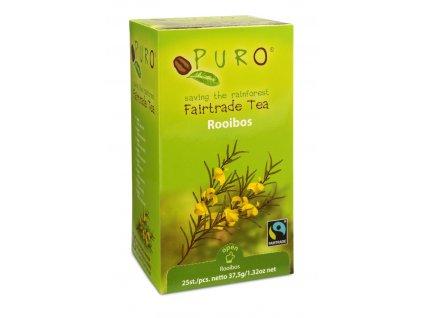 Fairtrade čaj porcovaný Puro Rooibos 25x1,5g