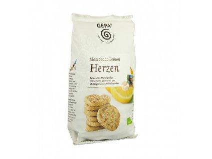 BIO sušenky citrónové s mascobado cukrem