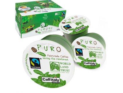 Kapsle Fairtrade Puro 4U kompatibilní s Tchibo, Caffitaly