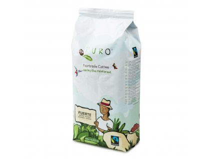 Zrnková káva Puro Fairtrade FUERTE 1kg