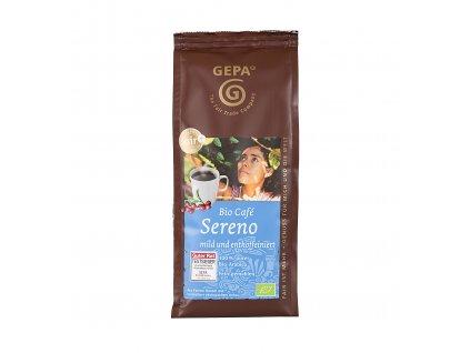 Mletá káva Fairtrade - BIO Sereno, 250g, BEZ KOFEINU
