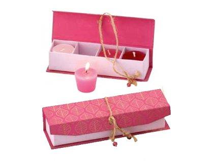 FAIRTRADE dárek Svíčky v dárkové krabičce