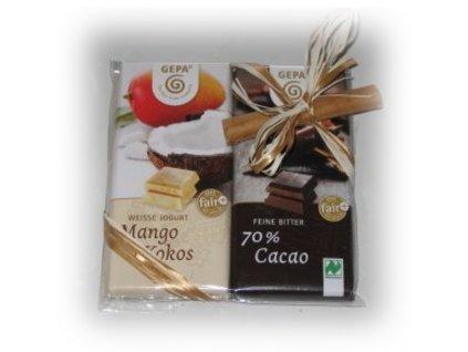 FAIRTRADE dárkový balíček Čokoládové duo