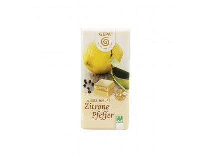 BIO čokoláda jogurtová s citrónovým pepřem, 40 g
