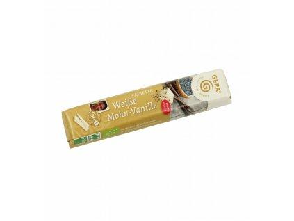 BIO Bílá čokoláda s vanilkou a mákem, 45 g