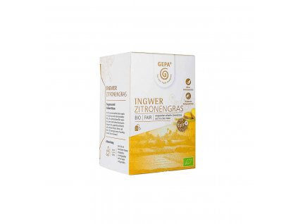 BIO Fairtrade zázvorový čaj s citrónovou trávou, 20 x 1,5 g