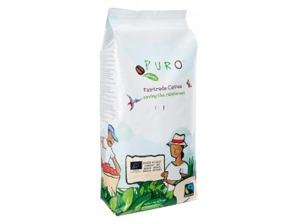 Zrnková káva Puro Fairtrade BIO DARK ROAST 1 Kg