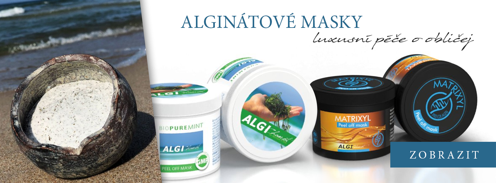 alginátové masky