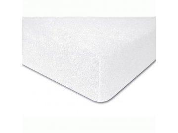 Prostěradlo froté elastické bílé 190x60 cm