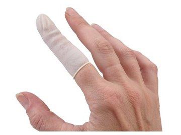 Návlek na prst latexový nepudrový L