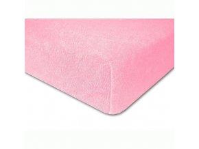 Prostěradlo froté elastické růžové 190x60 cm