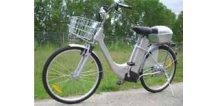 Elektrokolo Citybike 26 stříbrné, plyn, sada nářadí