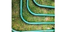 Šplhací tyč kovová zelená 32