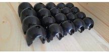 Křížové spoje pro lanovou síť černé 10 kusů