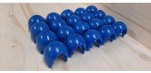 Křížové spoje pro lanovou síť modré 10 kusů