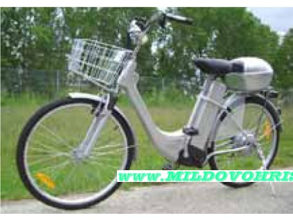 Elektrokolo Citybike 26 stříbrné, plyn, sada nářadí, doprava